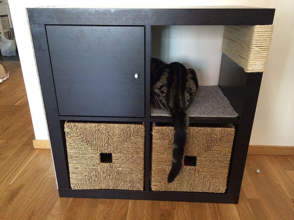 Kallax Cat Scratching Furniture For The Meowing Fur Baby Kallax