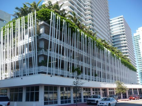 Arquitectonica Greenwraps A Parking Garage Garage Exterior Facade Architecture Parking Building