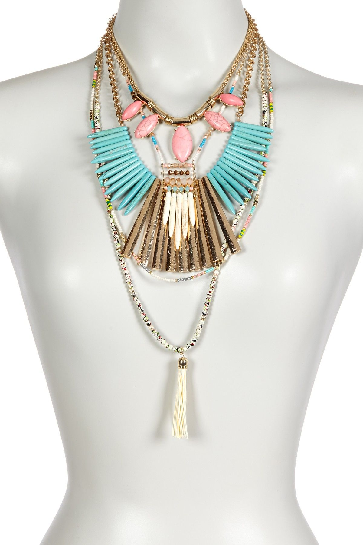Prosperity Stone Necklace Set by Boho & Bourbon on @HauteLook