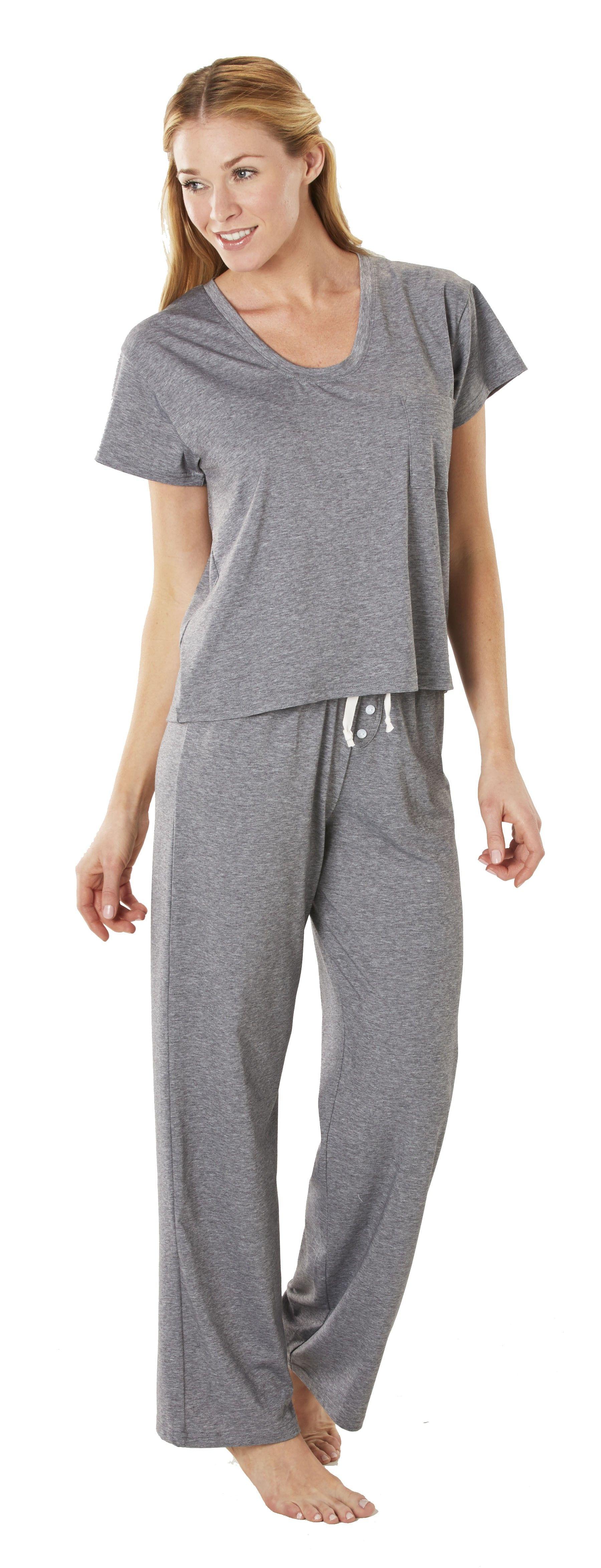 Softies Moisture Wicking Boyfriend Ankle Pj Pajama Set Summer
