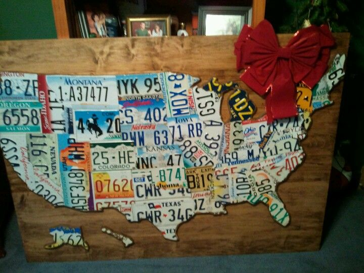 License plate map