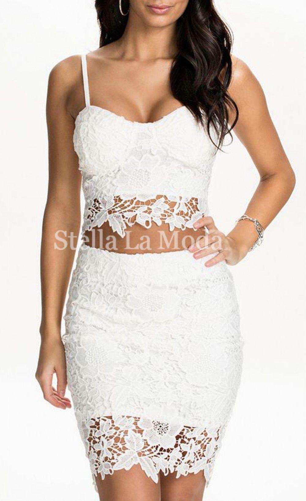 Lace bustier top skirt set stella la moda things to wear