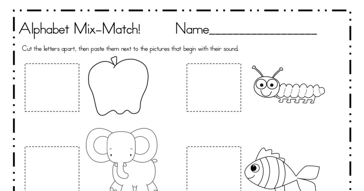 Alphabet Mix A to F.pdf Lettering, Letter sounds, Alphabet