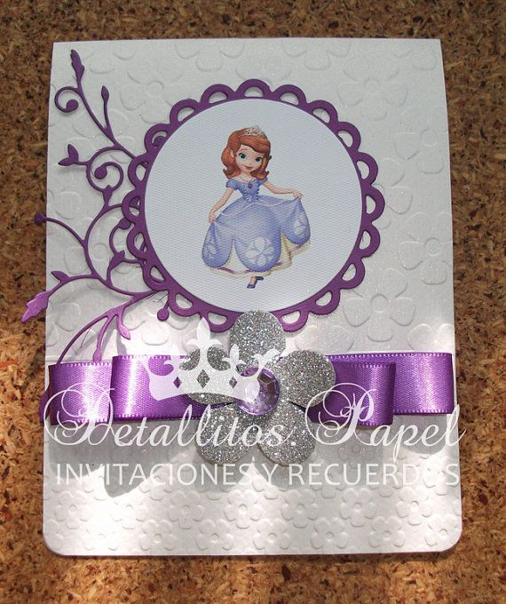 Princess Sofia Invitation Bhirtday Handmade / Invitations