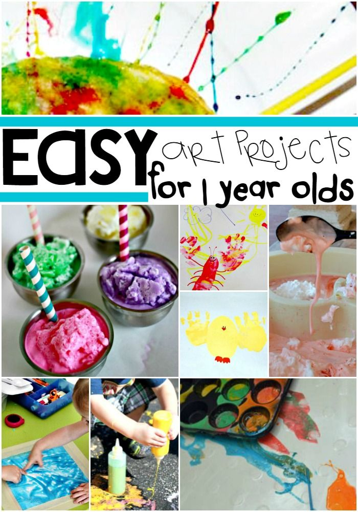 16 Easy Art Projects For Your 1 Year Old Craft
