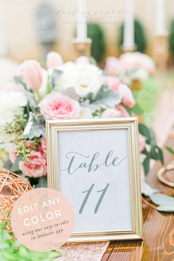 Table Numbers Printable, Table Numbers, Wedding Table Numbers - Download Numbers Spreadsheet For Mac