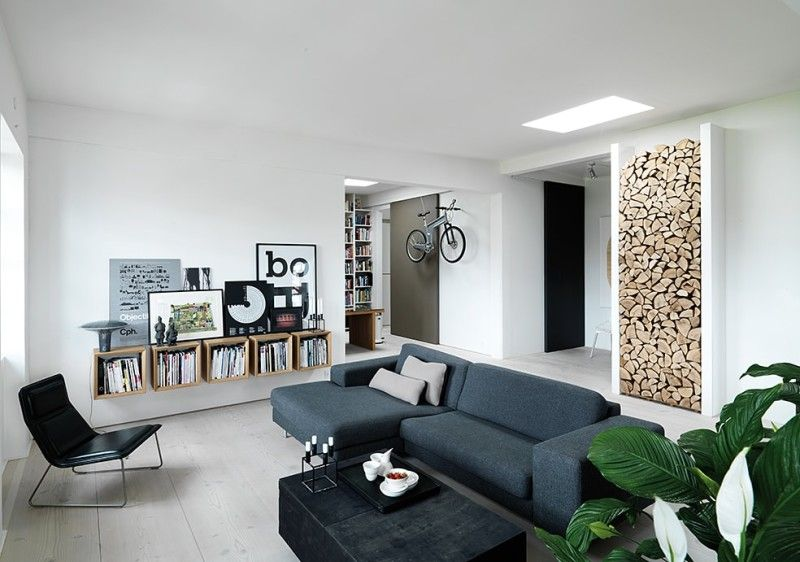 Perfect New York Style Loft Restoration Project In Copenhagen Homemade. Living Room Part 15