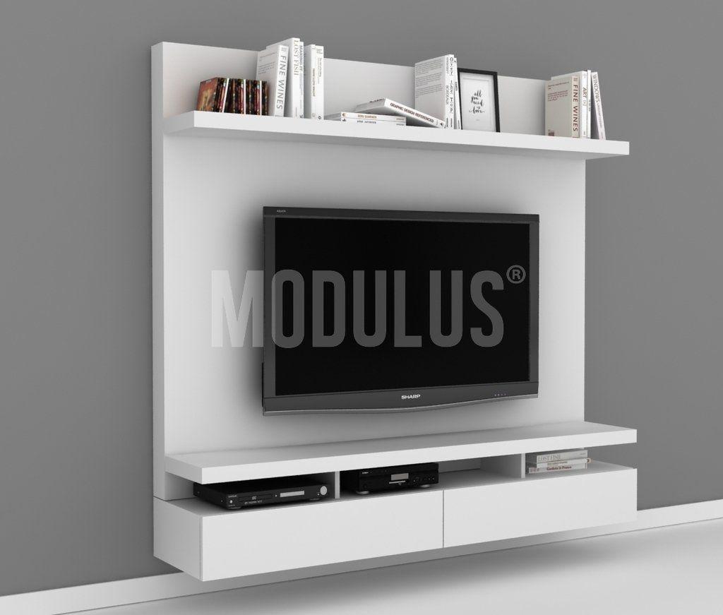 Mueble De Tv Rack Wall Unit Panel Para Tv Muebles Laqueados  # Muebles Modernos