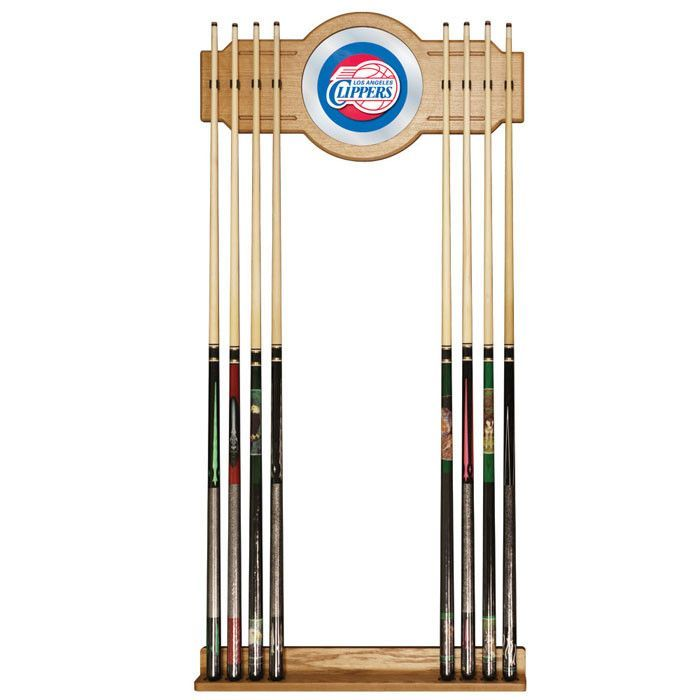 Trademark Commerce NBA6000-LAC Los Angeles Clippers NBA Billiard Cue Rack with Mirror