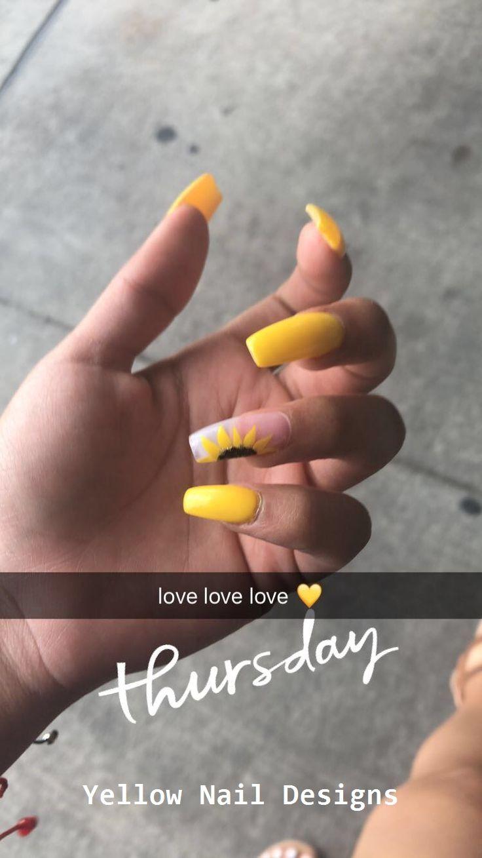 23 Great Yellow Nail Art Designs 2019 Nail Nailideas Yellow