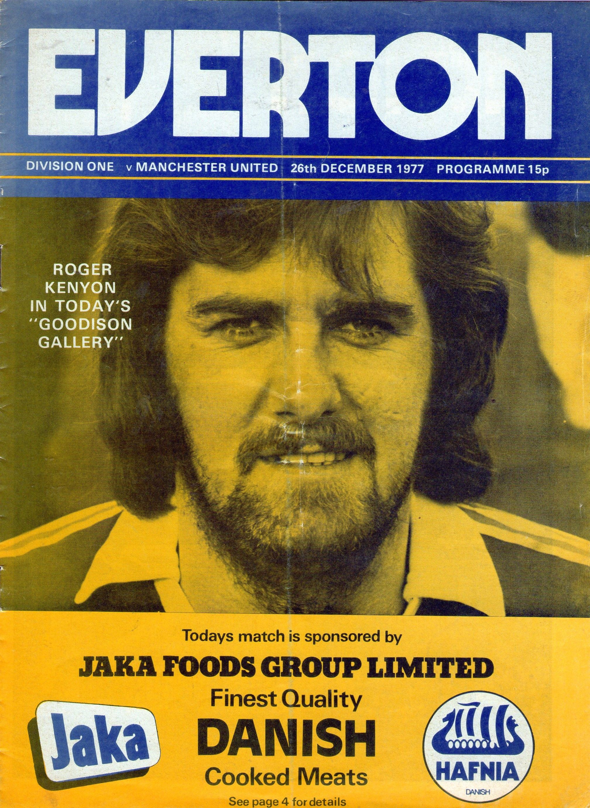 Everton v Manchester United 1977-78