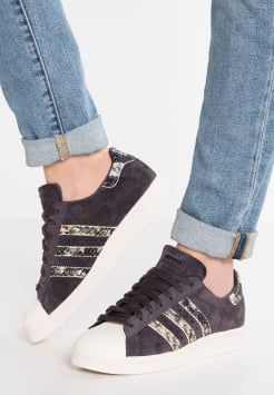 adidas Originals - SUPERSTAR 80S  - Sneakers laag - utility black/offwhite