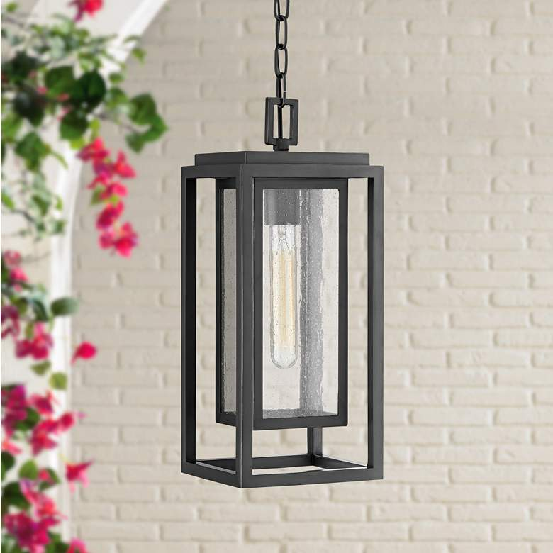 Republic 16 3 4 H Oil Rubbed Bronze Outdoor Hanging Light 44r71 Lamps Plus Outdoor Hanging Lights Hanging Lights Porch Light Fixtures