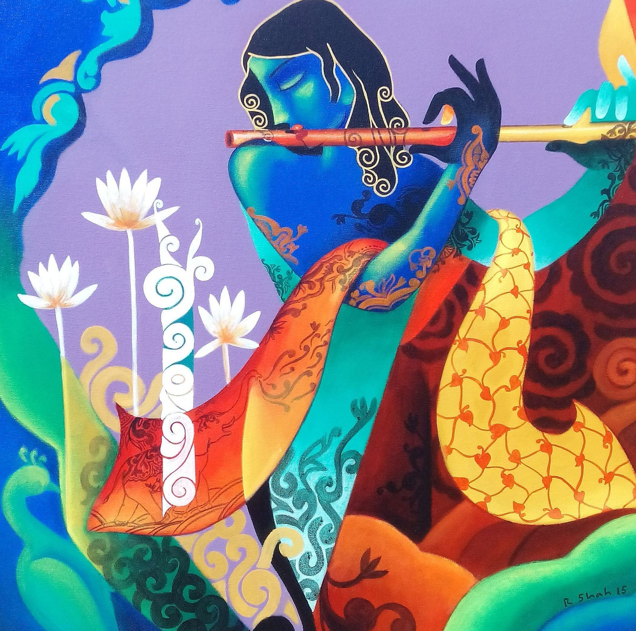 indian abstract paintings - Google Search   Indian art ...