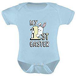 TeeStars - My 1st Easter Gift Cute Little Bunny Infant Baby Bodysuit 12M Aqua