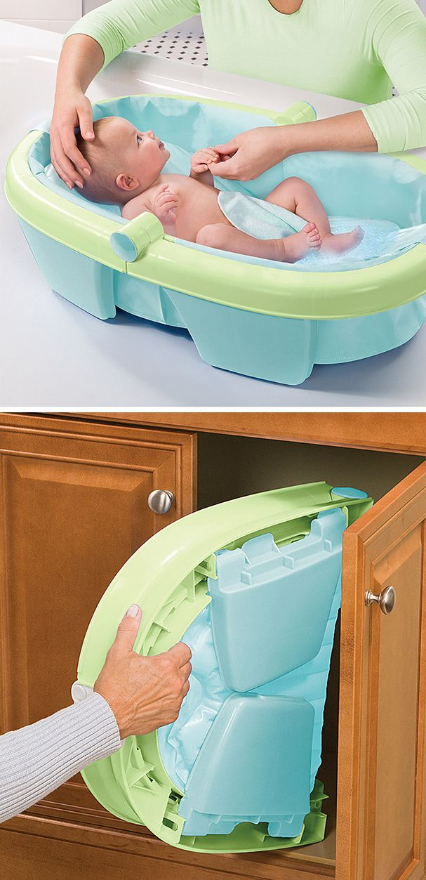 Newborn and toddler bath tub - folds for easy storage. Thank you ...