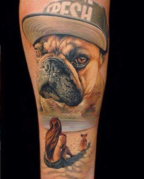 e0a8e0d871f17 Discover ideas about Cat And Dog Tattoo. Top French Bulldog Tattoos ...