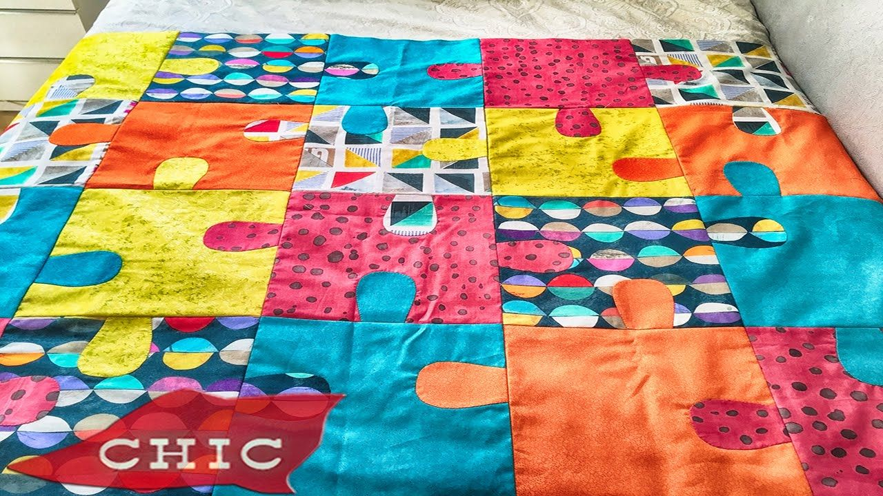 Como hacer Colcha puzzle Chic labores TUTOS Pinterest Patchwork