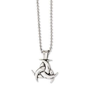 Mens stainless steel antiqued celtic knot pendant necklace mens mens stainless steel antiqued celtic knot pendant necklace mens jewelry available exclusively at gemologica aloadofball Images