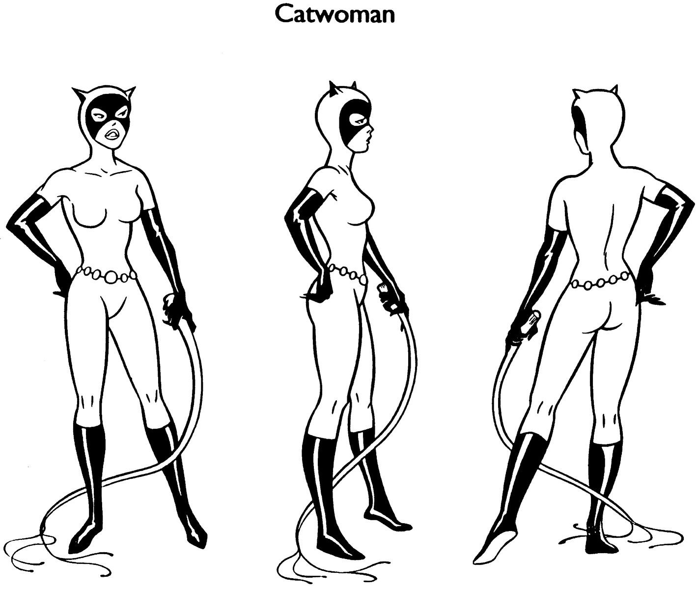 cartoon concept design batman the animated series model