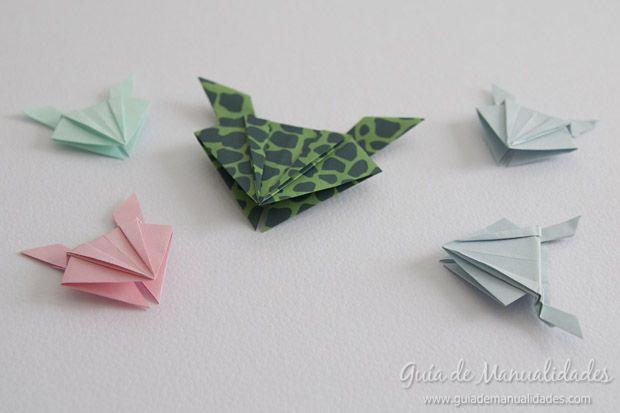 Como Hacer Una Ranita Saltarina De Origami Manualidades Rana De Origami Origami