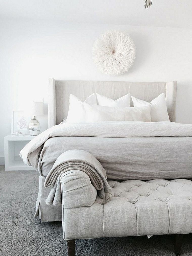 D co chambre blanche en 50 belles suggestions immo pinterest bedroom master bedroom et for Deco chambre blanche