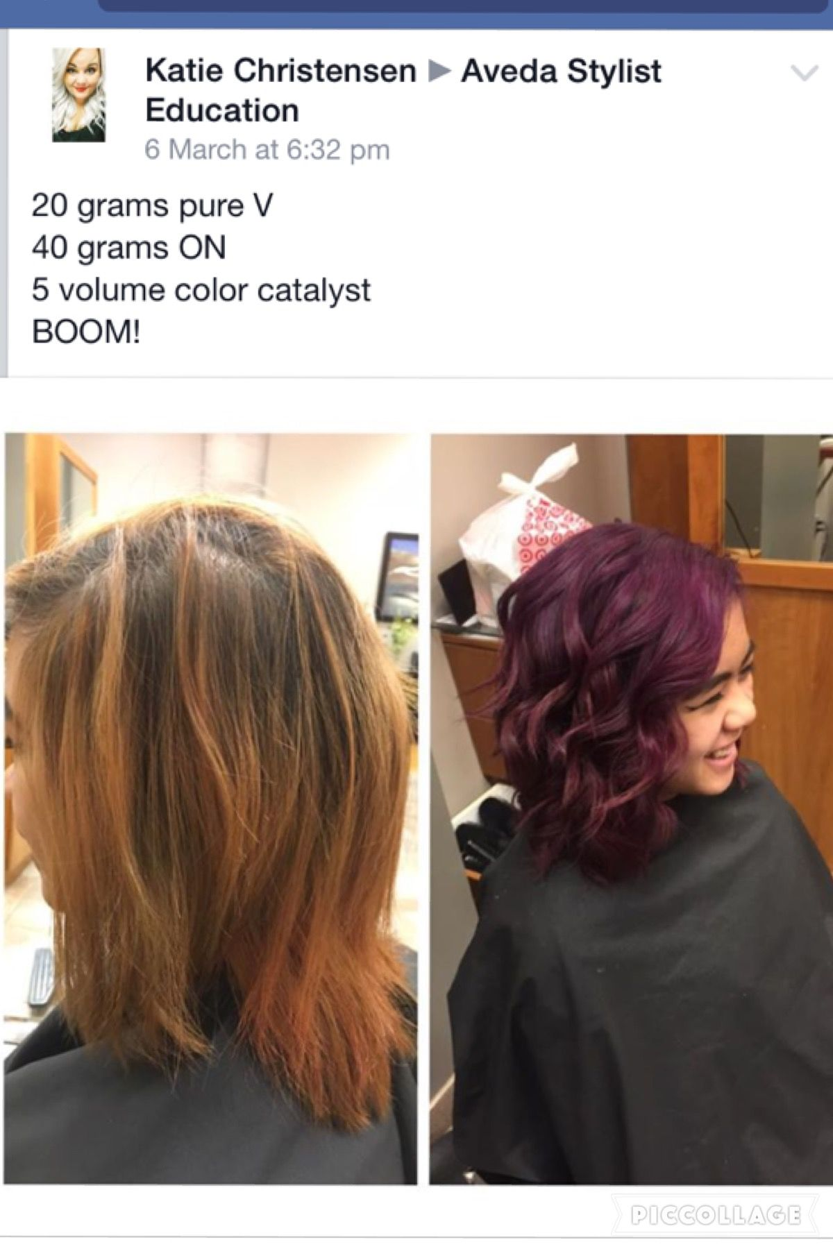 Pin by Dalliance Hair on Formulas - Aveda colour inspiration ...