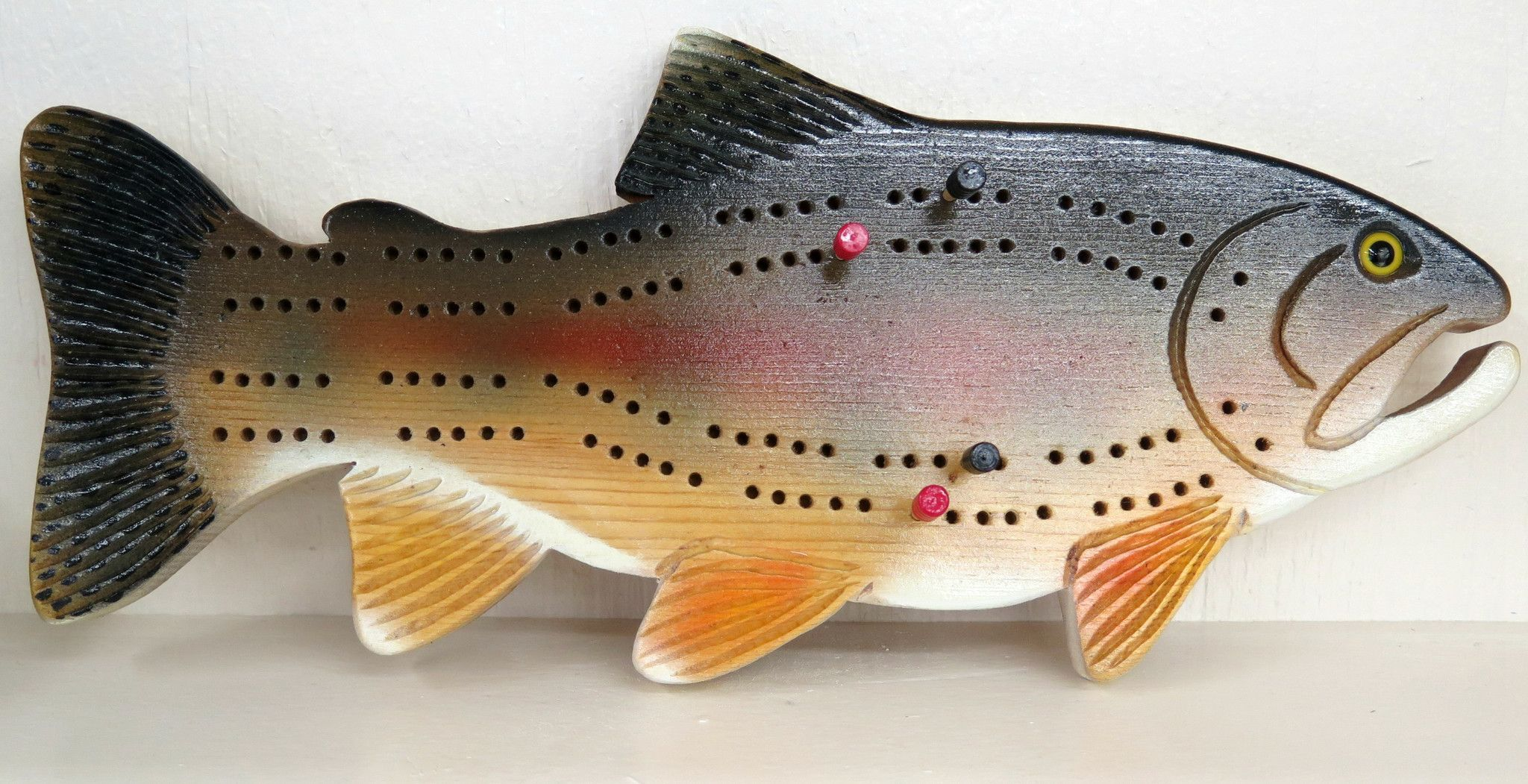 Rainbow Trout Cribbage Board
