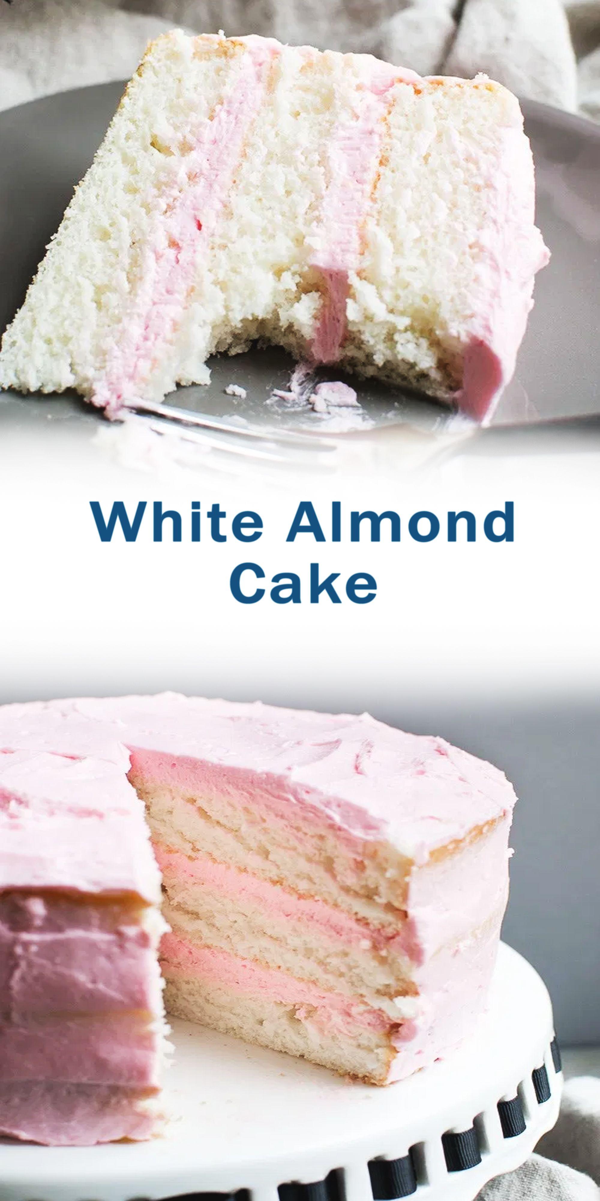 White Almond Cake In 2020 Almond Cakes French Desserts Chocolate Dessert Recipes
