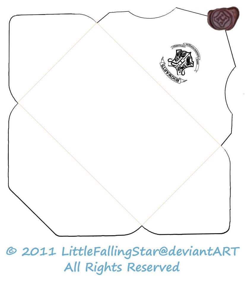 Hogwarts Envelope Outline By Littlefallingstar Deviantart Com On Deviantart Harry Potter Letter Harry Potter Invitations Harry Potter Cards