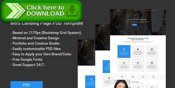 Free nulled Intro Landing Page PSD Template download | Cleaning ...