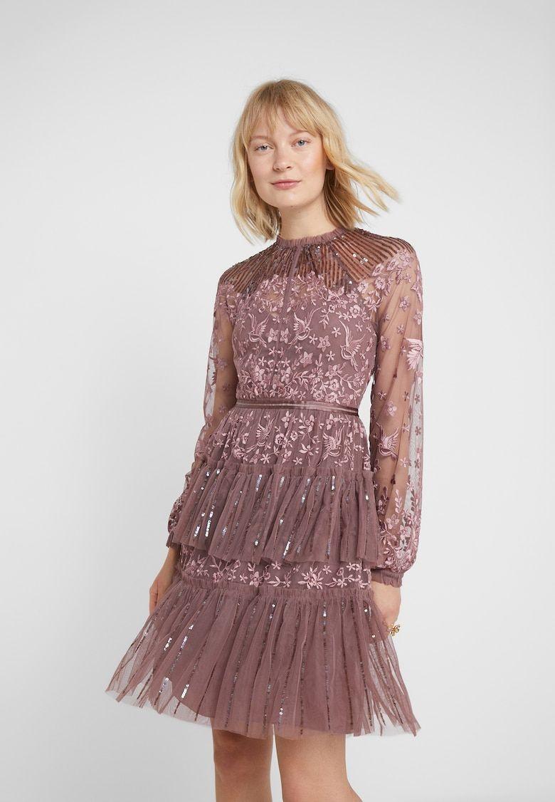 STARLING DRESS - Cocktailkleid/festliches Kleid - merlot @ Zalando