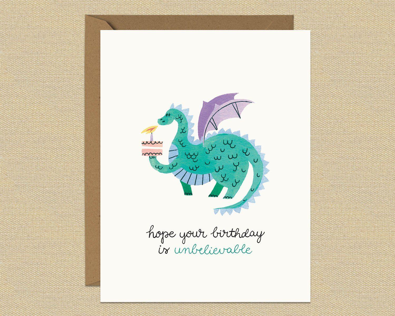 Handmade card Dragon smiles