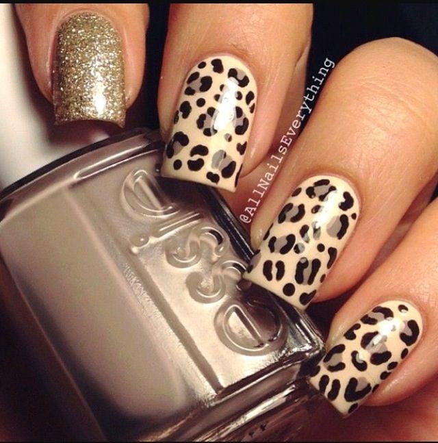 Brown Lepord Nails Nails Pinterest Leopard Nails