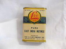 Vintage HD Lee Mercantile Pure East India Nutmeg Spice Tin
