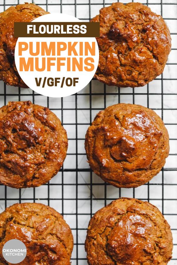 Healthy Pumpkin Muffins (Vegan + Gluten Free) - Okonomi Kitchen #pumpkinmuffins