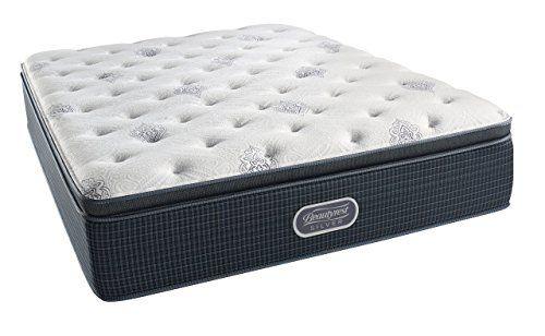 Simmons Beautyrest Silver Plush Pillow Top Mattress Aircool Gel Memory Foam Pocketed Coil Technology Queen Plush Mattress Mattress Box Springs Mattress