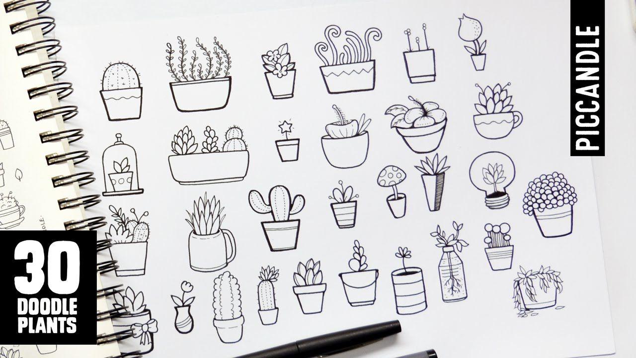 Plants Doodle Art Journals