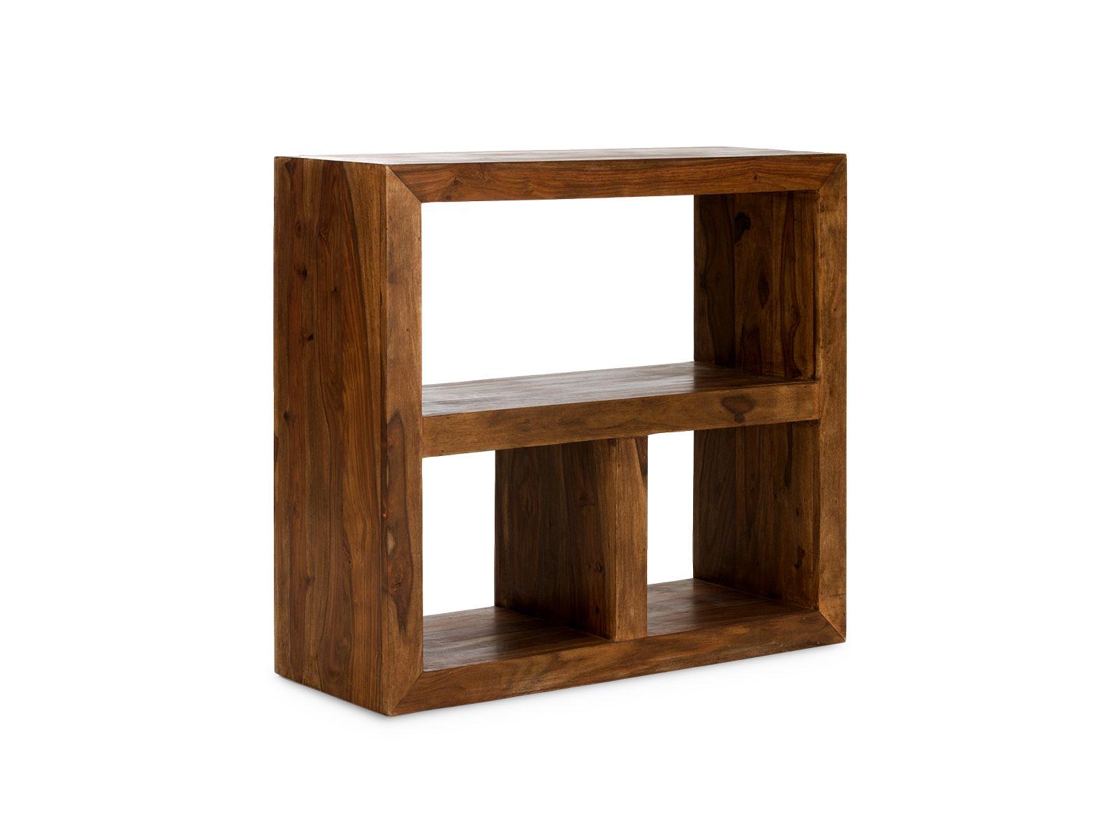 Tag Re Cube Avec 3 Compartiments En Palissandre Miel Consoles  # Modeles Bois Massif Salon Palissandre