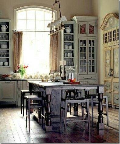 Küchen Hängelampenbeleuchtung, Französisch Stil Häuser, Graue Küchen, Ideen  Für Die Küche, Hütten Im Englischen Stil, Landhausstil, Küchen