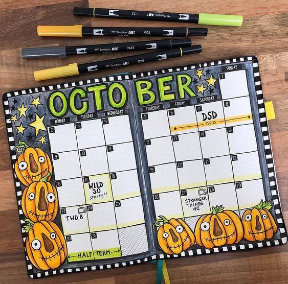 9 Fabulous Halloween Bullet Journal Layouts – Sowelu Studio