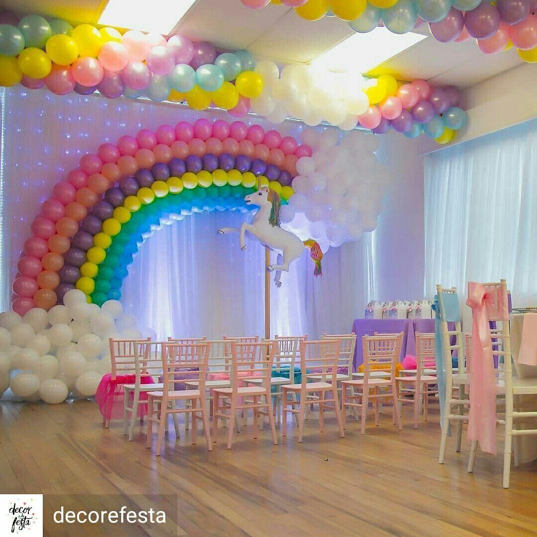 Rainbow Parties Pinata Wall Theme Colours