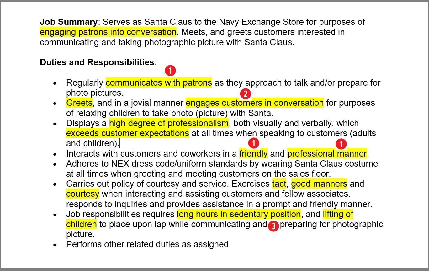 Mall Santa Resume Sample & Complete Guide [20+ Examples