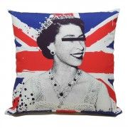 Queen Wearing Incognito Glasses Cushion Elizabeth Ii Queen Elizabeth Ii Queen Elizabeth