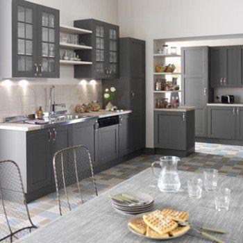 Meuble de cuisine gris DELINIA Nuage Leroy Merlin Idées pour la