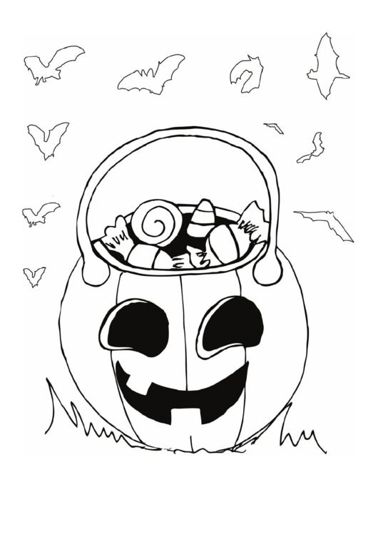 Need a Candy Jack O Lantern Coloring Page? Here\'s a free Halloween ...
