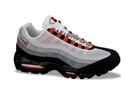 orange and grey nike air max 95