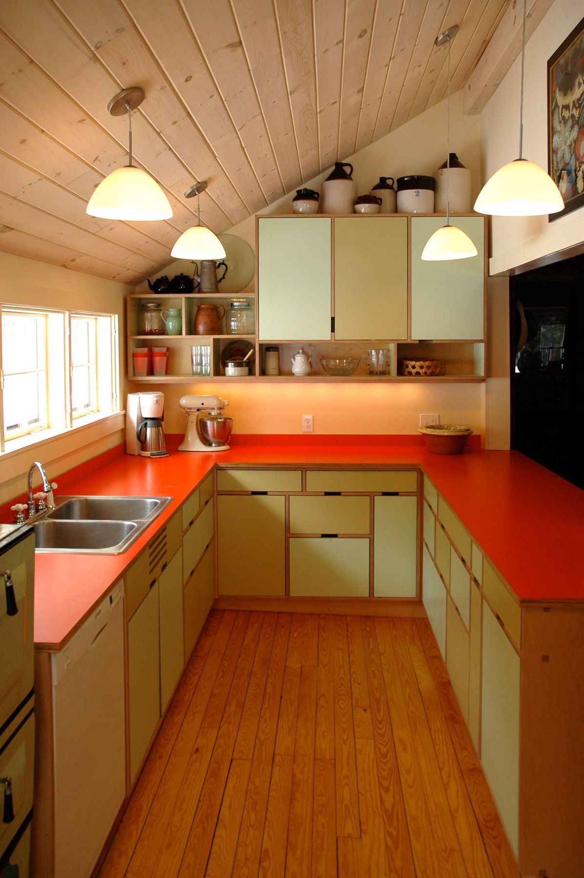 not sure i subscribe to the color choices but i like the boldness and the plywood plywood kitchenplywood cabinetsplywood - Plywood Kitchen Decor