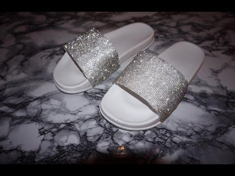 9fca48f2e4e602 Fenty By Rihanna Fur Slides By Puma DIY - YouTube
