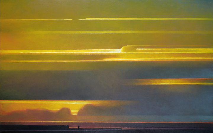 13 Lemon and Blue oil on canvas 30x48 Rich Bowman